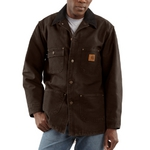 Carhartt Men's Sandstone Chore Coat/Blanket-Lined C02